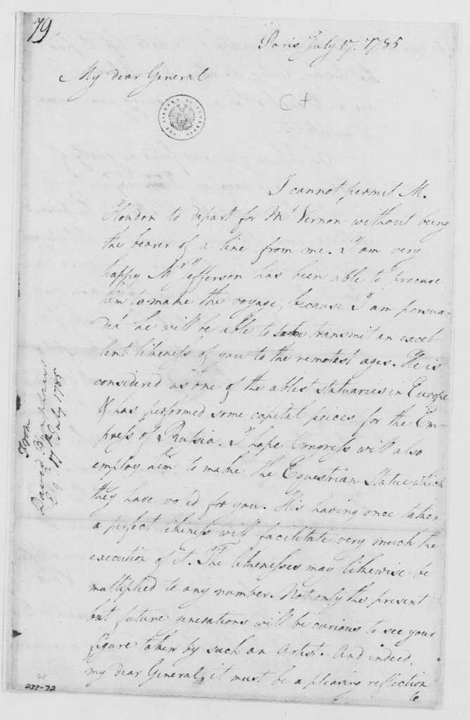 George Washington Papers, Series 4, General Correspondence: David Humphreys to George Washington, July 17, 1785