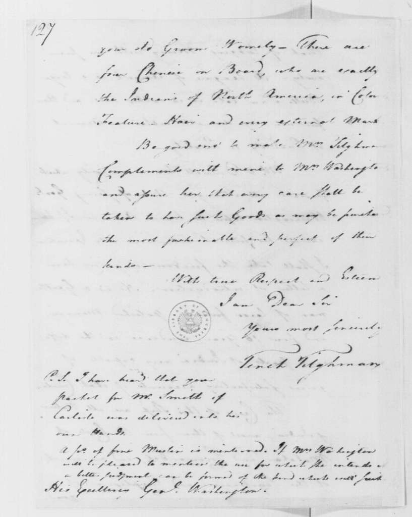 George Washington Papers, Series 4, General Correspondence: Tench Tilghman to George Washington, August 25, 1785