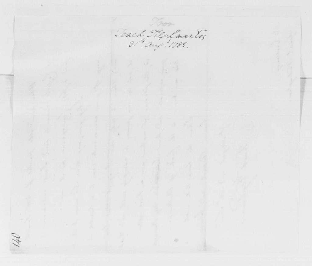 George Washington Papers, Series 4, General Correspondence: Tench Tilghman to George Washington, August 31, 1785