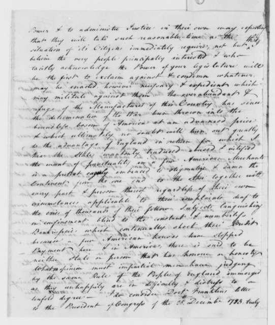 Henry Martin to Patrick Henry, 1785