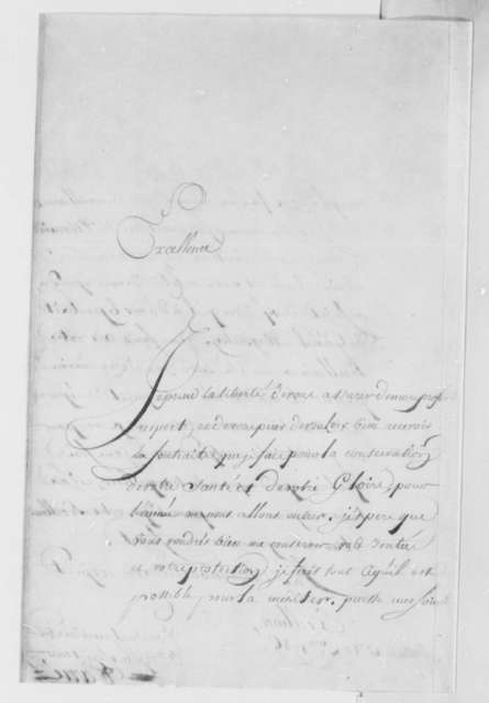 Isaac Barre to Thomas Jefferson, December 23, 1785, in French