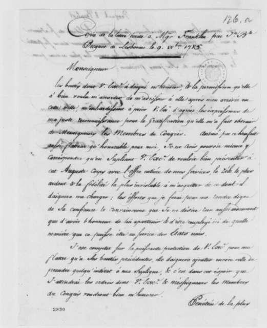 Jean Baptiste Pecquet to Benjamin Franklin, December 9, 1785, in French