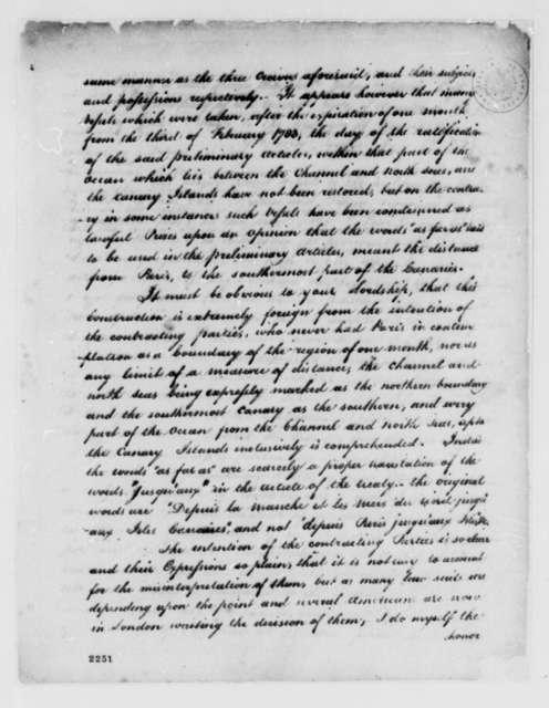 John Adams to Marquis de Carmarthen, July 14, 1785