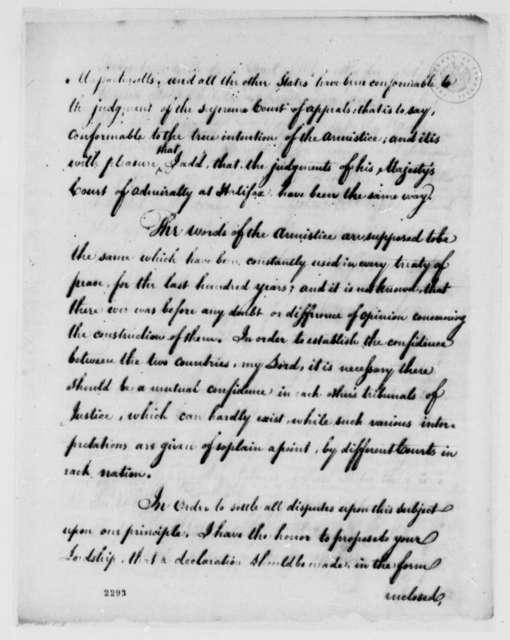 John Adams to Marquis de Carmarthen, July 27, 1785