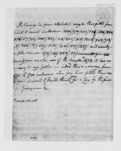 John Adams to Thomas Jefferson, August 7, 1785
