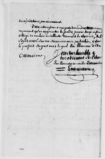Louis Alexander to Charles Alexandre de Calonne, June 17, 1785