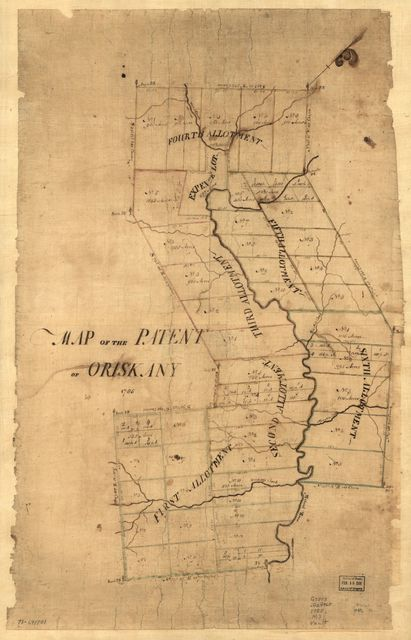 Map of the patent of Oriskany.