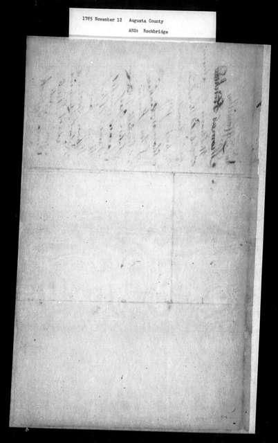 November 12, 1785, Augusta, Rockbridge, In favor of Presbyterian Convention petition.