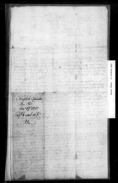 November 17, 1785, Orange, Baptist Association meeting on September 17, 1785, against assessment bill.