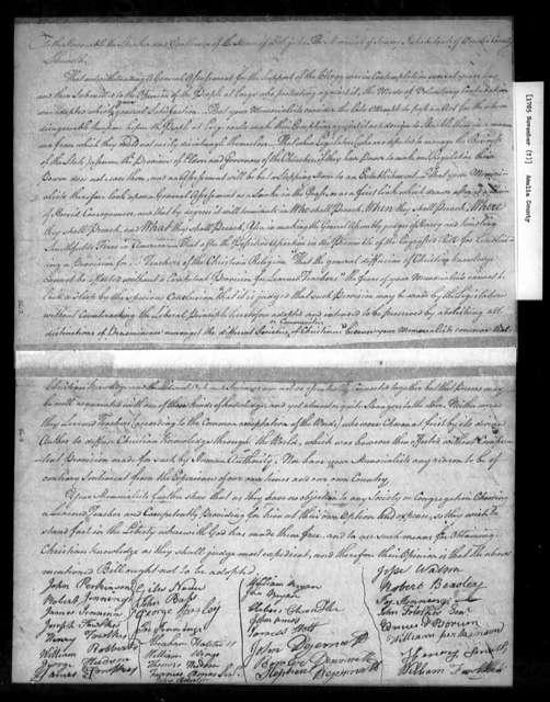 November, 1785, Amelia, Against assessment bill.