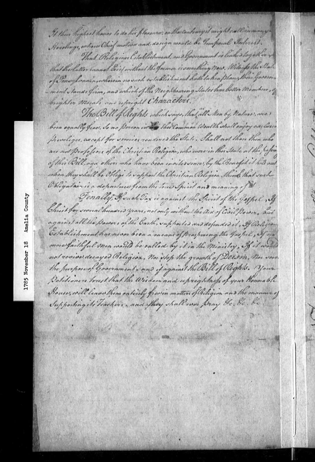 November 18 1785 Amelia Against Assessment Bill Library Of Congress Public Domain Image Real property public extract and billing/payment records. library of congress getarchive
