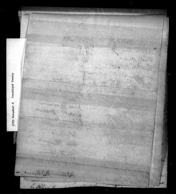 November 2, 1785, Goochland, Against assessment bill.