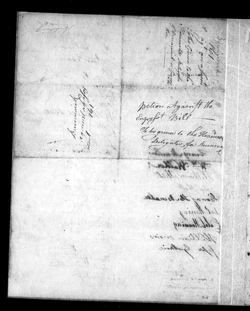 November 28, 1785, Brunswick, Against assessment bill.