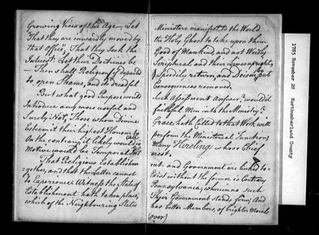 November 28, 1785, Northumberland, Against assessment bill.