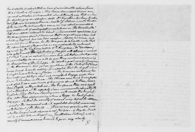 Richard Henry Lee to James Madison, May 30, 1785. Fragment.