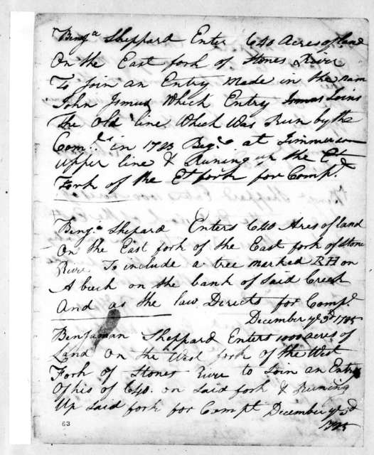 Robert Hays to Benjamin Sheppard, December 3, 1785