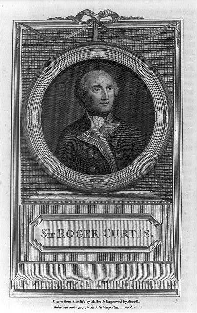 Sir Roger Curtis / drawn from the life by Miller & engraved by Birrell.