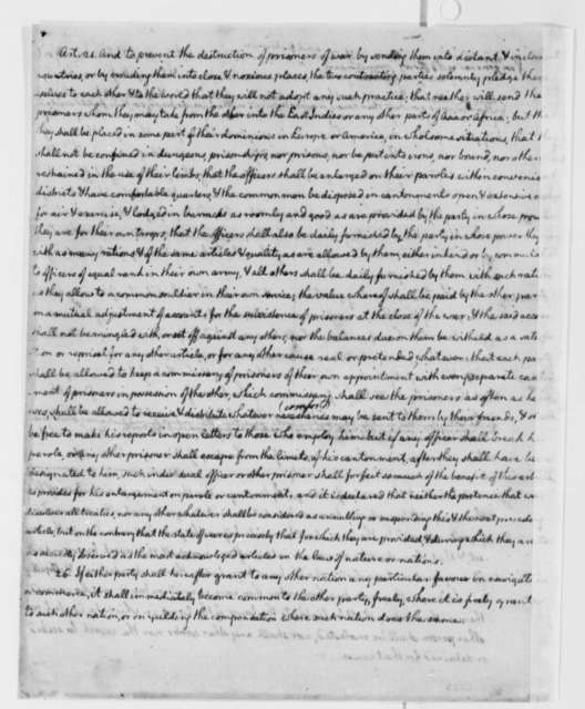 Thomas Jefferson, 1785, Draft of Treaty Between the United States and the King of Denmark and Norway