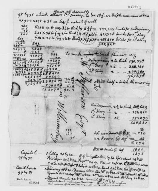 Thomas Jefferson, 1785, Notes on Virginia Capitol Building