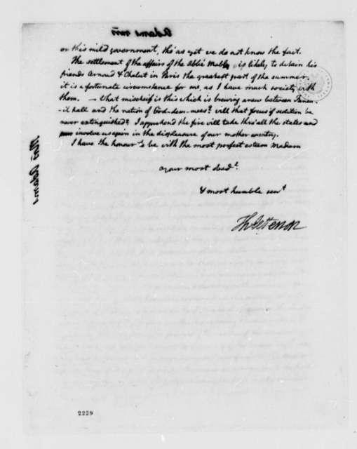 Thomas Jefferson to Abigail Smith Adams, July 7, 1785