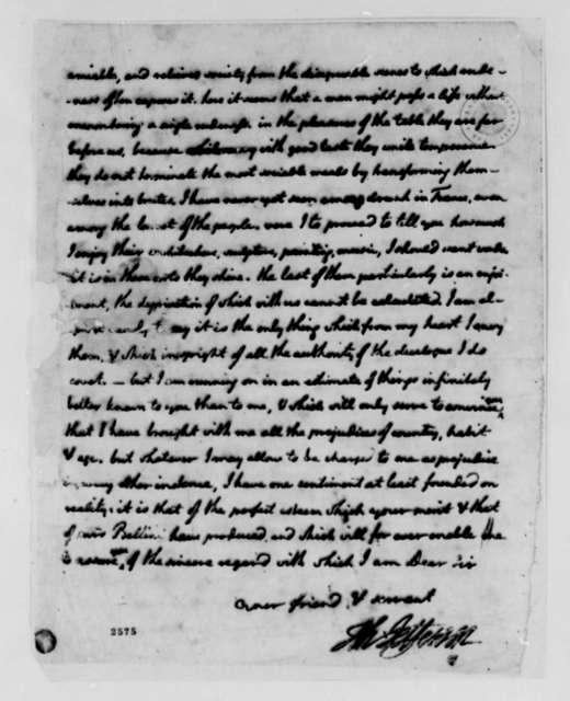 Thomas Jefferson to Charles Bellini, September 30, 1785