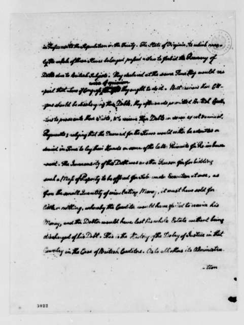 Thomas Jefferson to Charles Gravier, Comte de Vergennes, August 15, 1785, Record of Correspondence