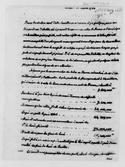 Thomas Jefferson to Charles Gravier, Comte de Vergennes, August 15, 1785, Tobacco Trade and Manufacturing
