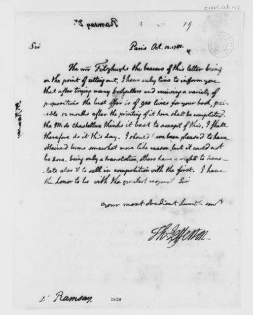 Thomas Jefferson to David Ramsay, October 12, 1785