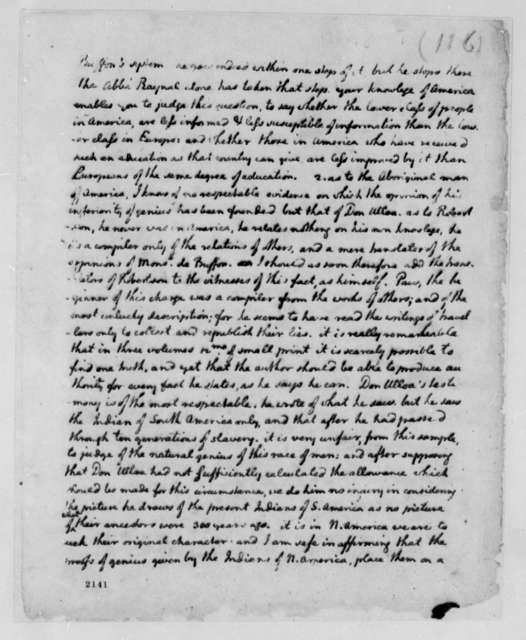 Thomas Jefferson to Francois Jean, Chevalier de Chastellux, June 7, 1785