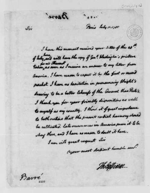 Thomas Jefferson to Isaac Barre, July 11, 1785