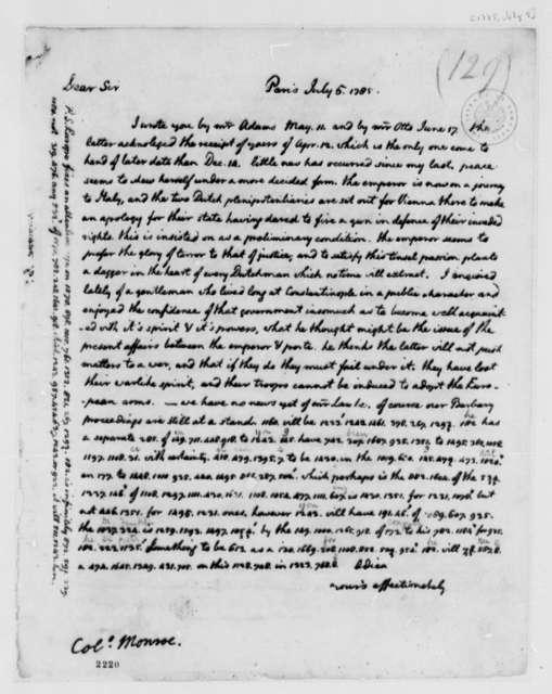 Thomas Jefferson to James Monroe, July 5, 1785