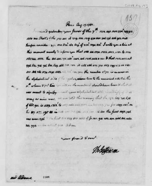 Thomas Jefferson to John Adams, August 17, 1785