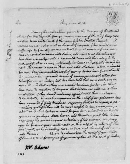 Thomas Jefferson to John Adams, June 15, 1785