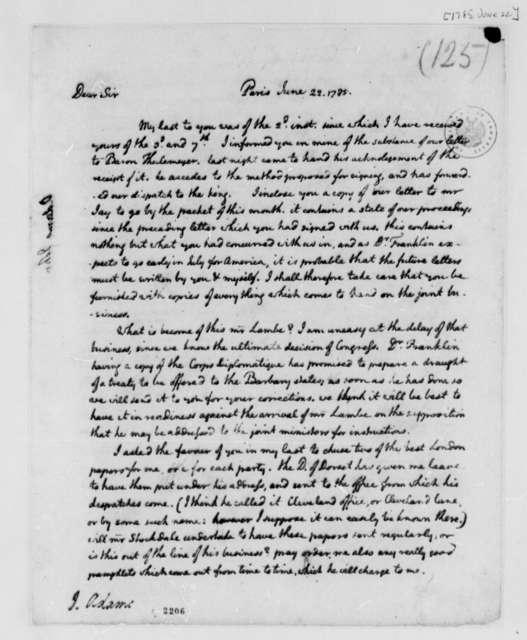 Thomas Jefferson to John Adams, June 22, 1785