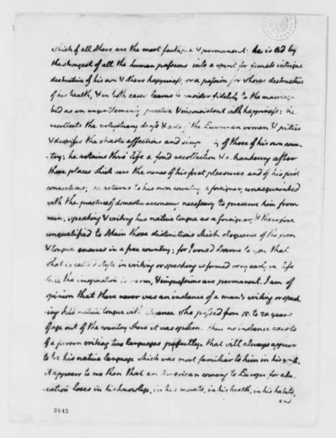 Thomas Jefferson to John Banister Jr., October 15, 1785