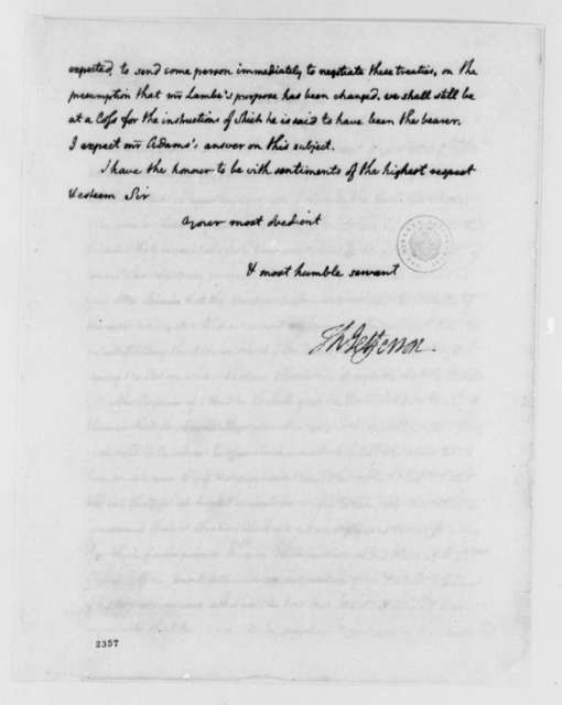Thomas Jefferson to John Jay, August 14, 1785, two same date; Treaty with Prussia; Dispute with Morocco; Barbary States; Betsy or Betsey (ship)