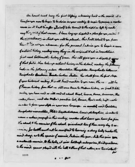 Thomas Jefferson to Peter Carr, August 19, 1785