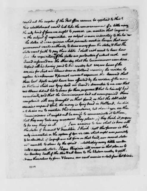 Thomas Jefferson to Richard Henry Lee, July 12, 1785