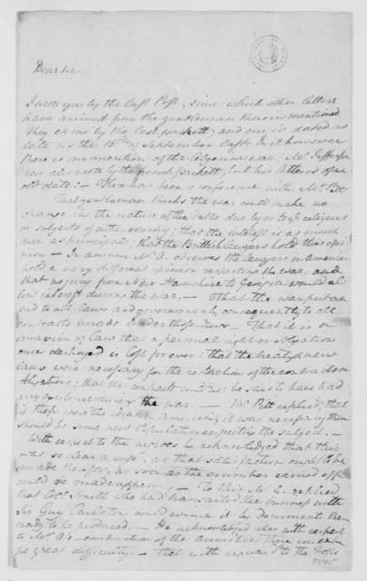 William Grayson to James Madison, November 22, 1785.