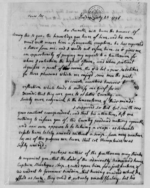 Abigail Smith Adams to Thomas Jefferson, July 23, 1786