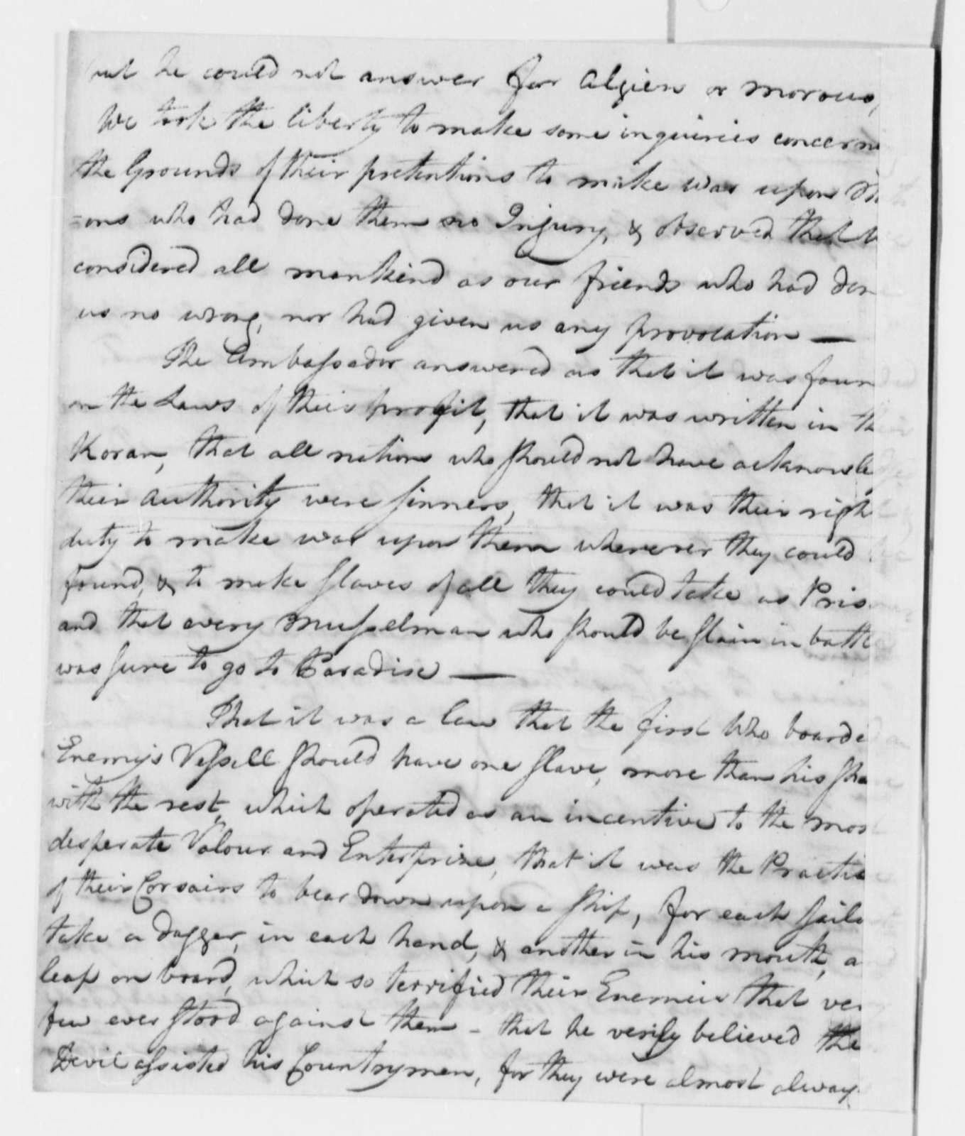 American Peace Commissioners to John Jay, March 28, 1786