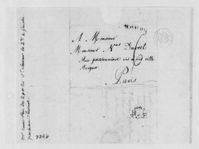 Anthony Garvey to Nicolas Darcel, 1786, Cover Only; with Address for Veuve Samuel Joly l'aine et fils