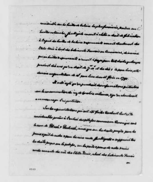 Charles Alexandre de Calonne to Thomas Jefferson, October 22, 1786