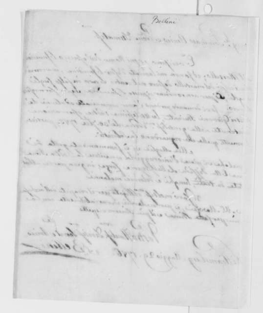 Charles Bellini to Thomas Jefferson, May 29, 1786, in Italian