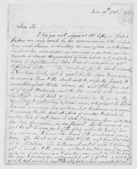 Charles Burney to John Paradise, June 19, 1786