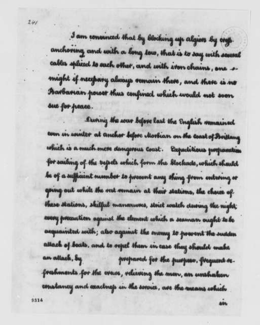 Charles Hector, Count D'Estaing to Thomas Jefferson, May 17, 1786