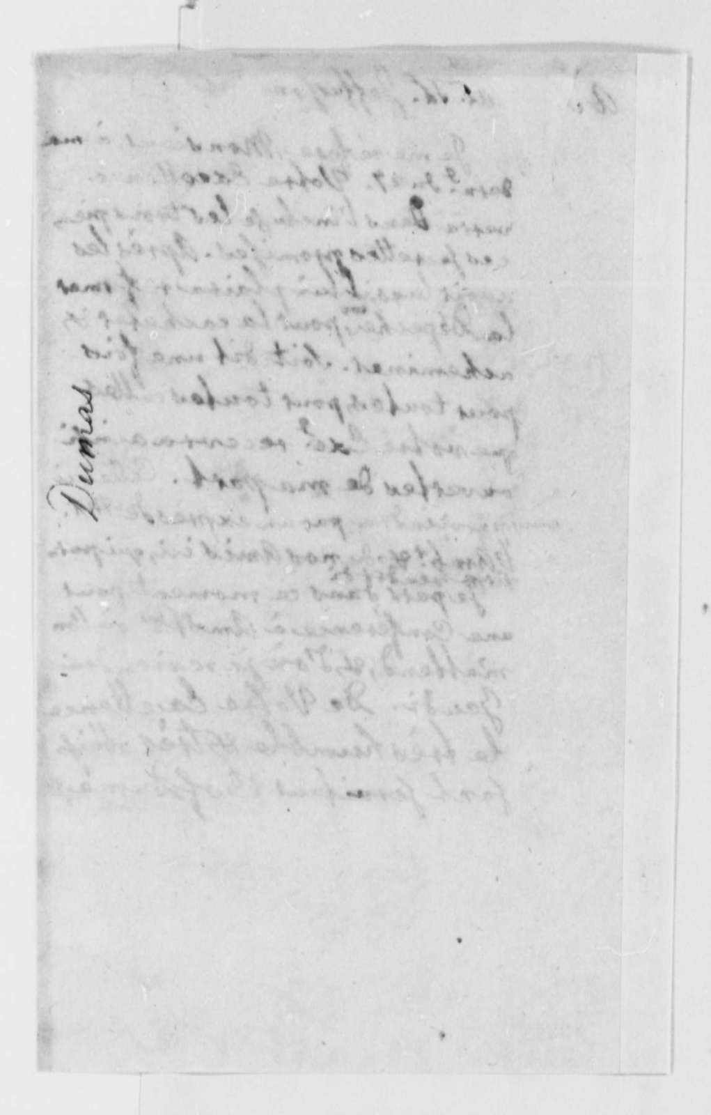 Charles William Frederic Dumas to Thomas Jefferson, January 31, 1786, in French