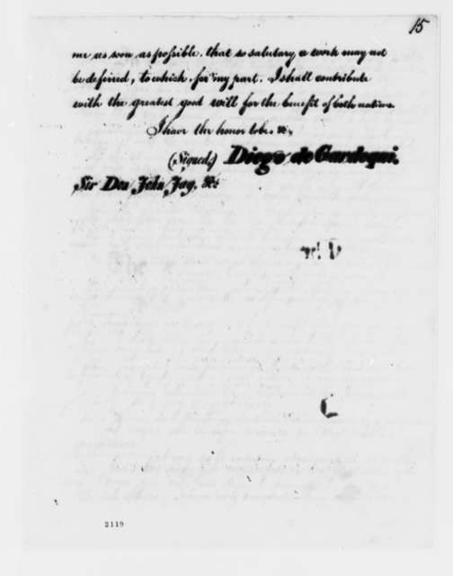 Diego de Gardoqui to John Jay, May 25, 1786