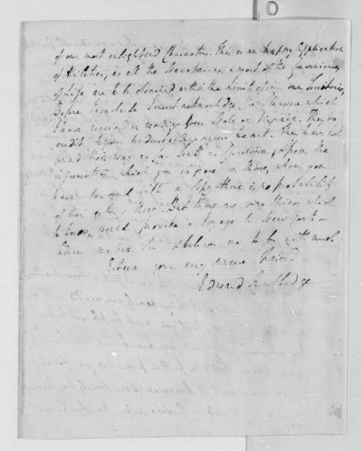 Edward Rutledge to Thomas Jefferson, October 14, 1786