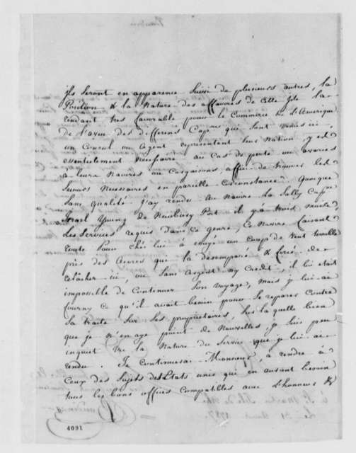 Francois Baudin to Thomas Jefferson, August 31, 1786, in French